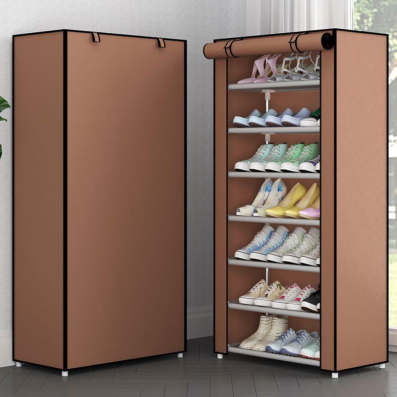 Schuhregal Nonwoven Fabric Regal Startseite Schuhe Speicher-Organisator Einfach zu installieren Schuhschrank Standinhaber Space Saver Wohnmöbel