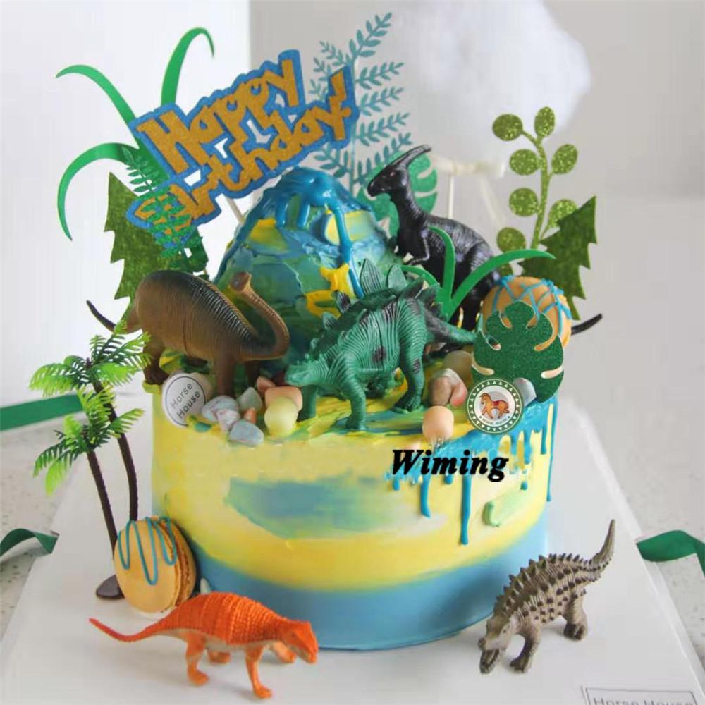 Strange 2020 Dinosaur Cake Topper Kids Themed Birthday Parties Gifts For Funny Birthday Cards Online Inifodamsfinfo