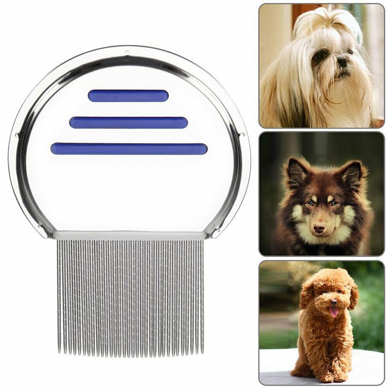 Terminatör Lice Tarak Nit Ücretsiz Çocuk Saç kurtulun Headlice Paslanmaz Çelik Metal Dişler Nit Fırça evcil köpek kediyi besleyen kaldır