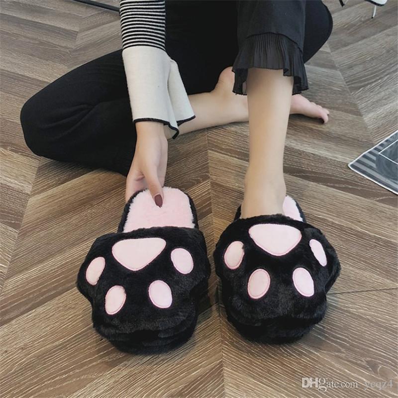 COOTELILI Mulheres Casa Chinelos Deslizamento em Chinelos Casa Interior com Plush Não-deslizamento Inverno Slides Sapatos Quentes Tamanho Livre Terno For35-40