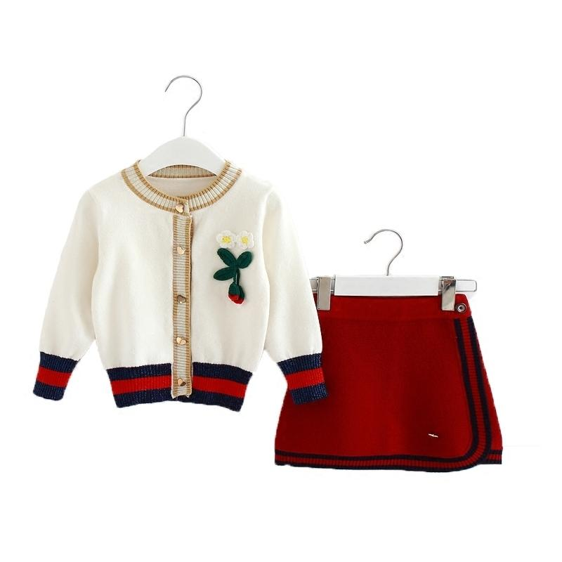 Toddler Autumn Winter Girls Clothing Sets Kids Cotton 2 Pcs Clothes Children Outfits Long Sleeve Sweater Suits For Girls Knitted Y190518