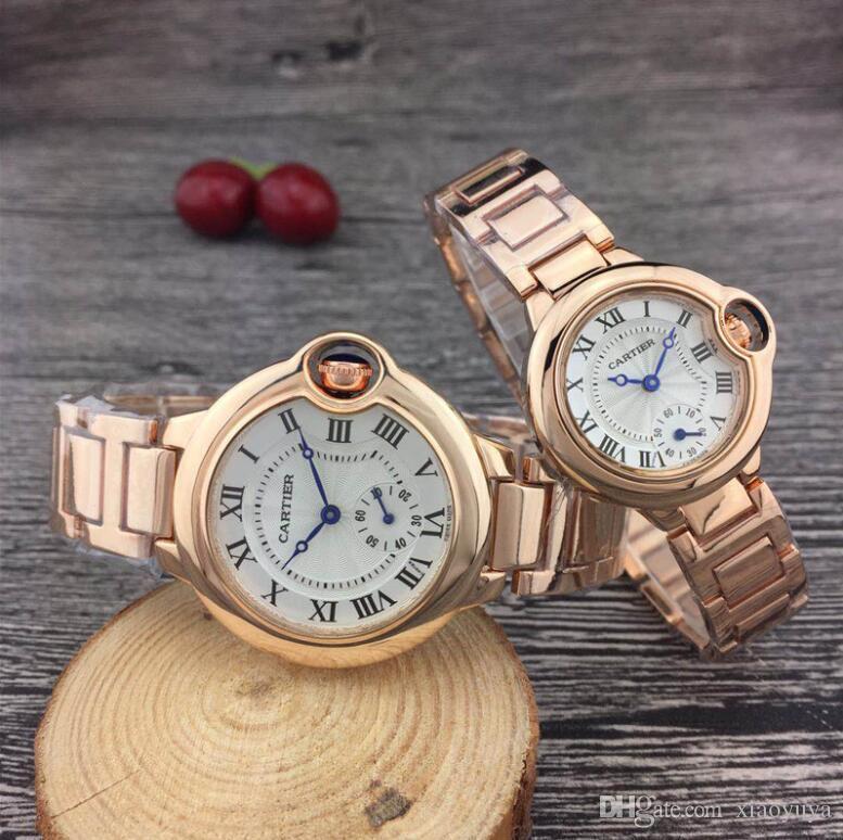 A04 الشهيرة الحب الجديدCARTIER الرجال والنساء ووتش أزياء العلامة التجارية الساعات والجلود عارضة حزام الفاخرة كوارتز ساعة ذهابا ووتش الماس كامل