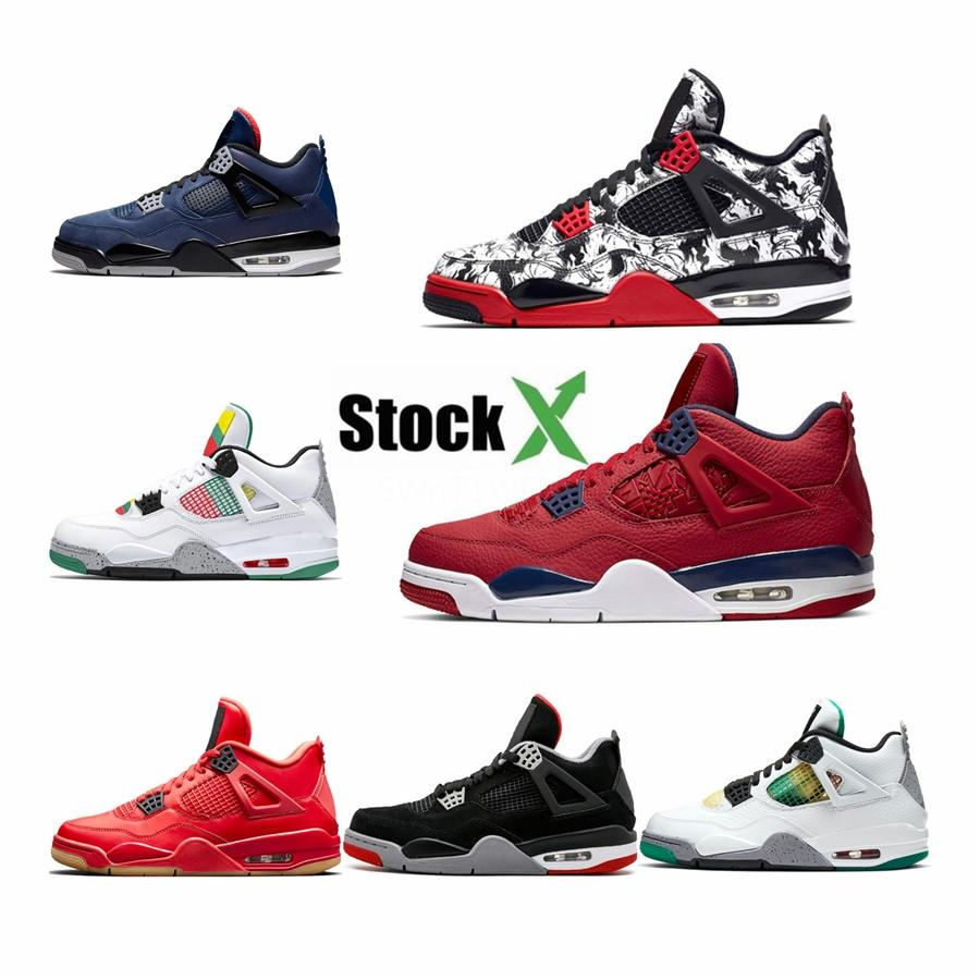 2020 Basketball Shoes 4S The Shoes For Sneakers Boys 4 Athletic Shoes Size 28-35 #677