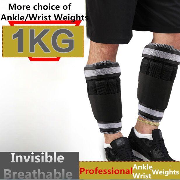 Poids de la jambe réglable 1KG = 1 paire poids de la jambe Sangles Exercice de musculation Salle de sport Running Fitness Entièrement réglable Poids