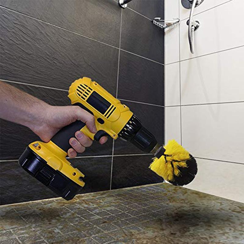 Banyo Tuvalet Yüzeyler Küvet Duş Tile Grout Akülü Scrub Matkap Temizleme Kiti Brush için Güç Scrubber Fırçası