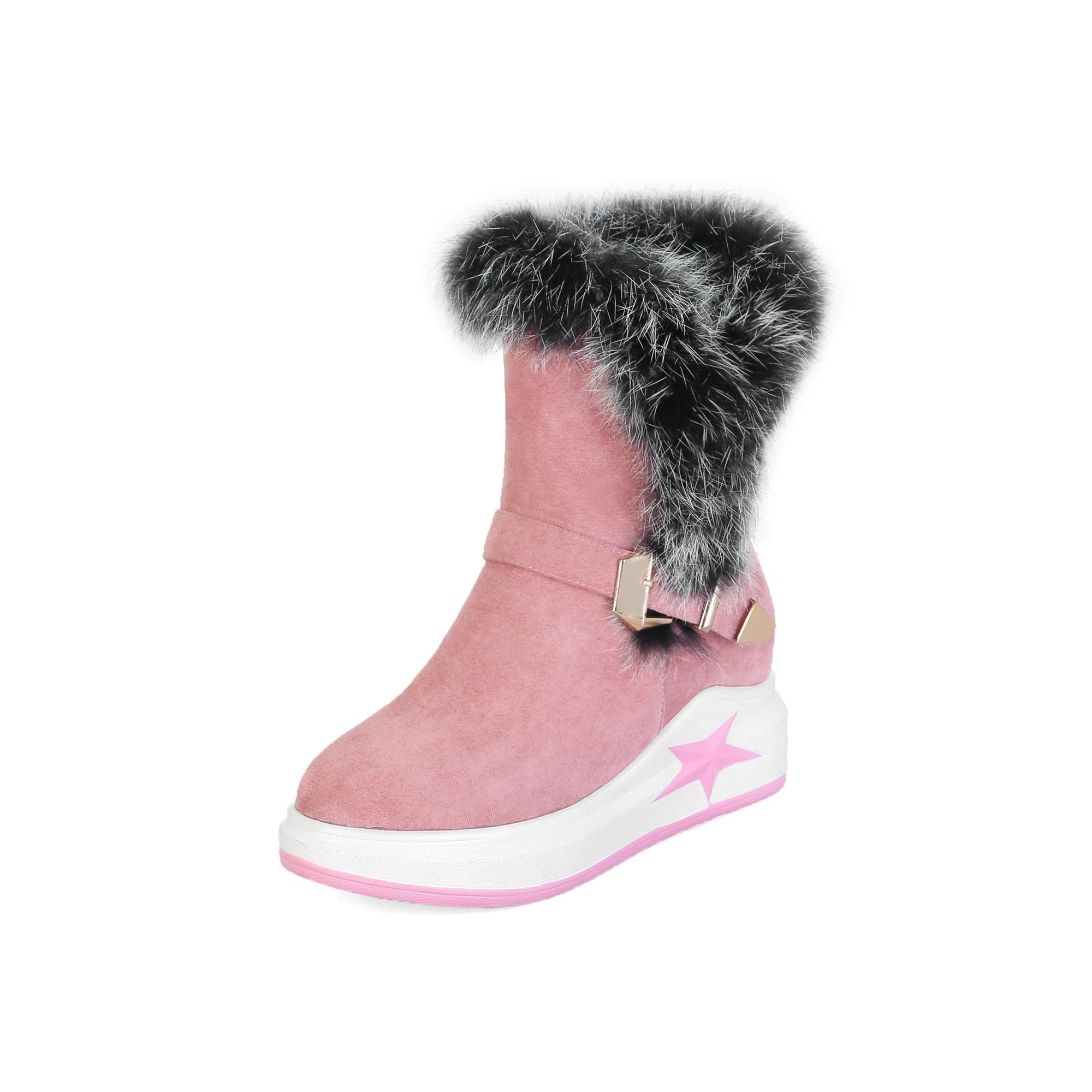 Hot Sale-HQWY599Autumn und Winter neuer Stil dicker Boden Fell, Freizeit und scherze College Schneeschuh