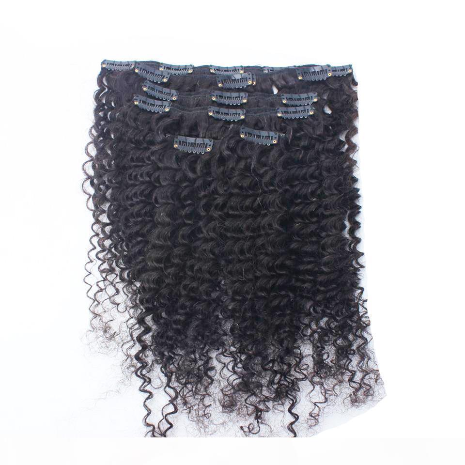 clip di estensione dei capelli per la clip viziosa ins 8pcs clip di capelli umani naturali di colore Afro capelli african american 100g di estensioni per le donne nere