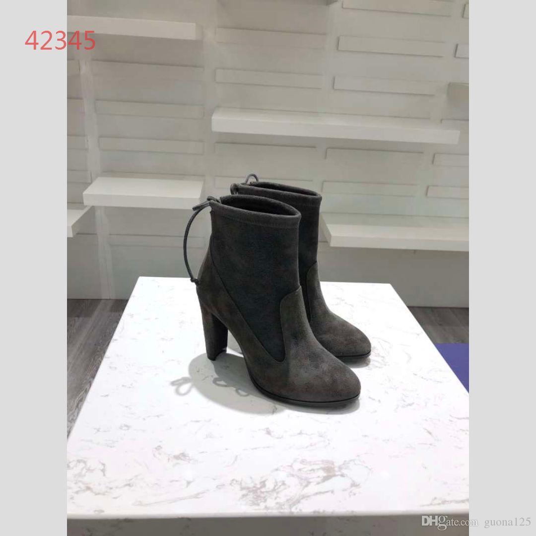 Botas de grife mulheres Moda rebite de couro mulheres botas de couro reall curto outono inverno tornozelo designer de marca de moda sapatos femininos a1