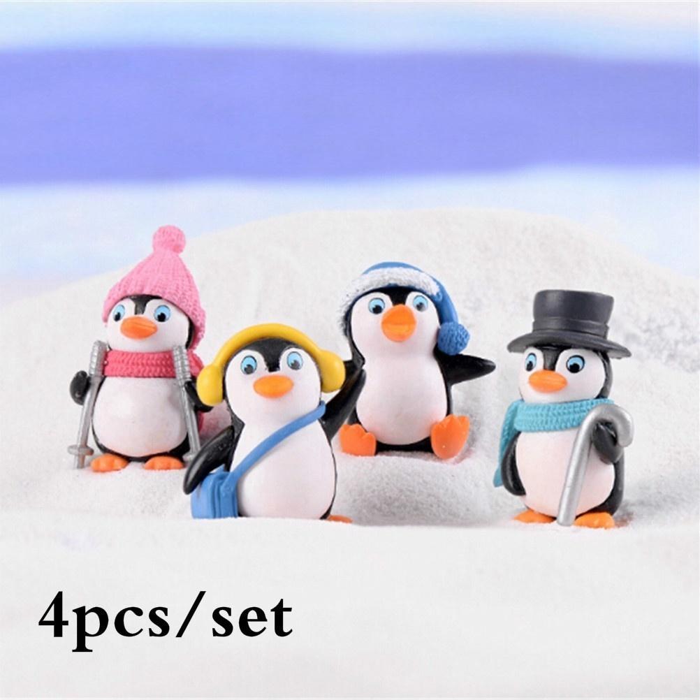 10Pcs Resin Miniature Penguin Fairy Garden Decor Micro-landscape ornaments