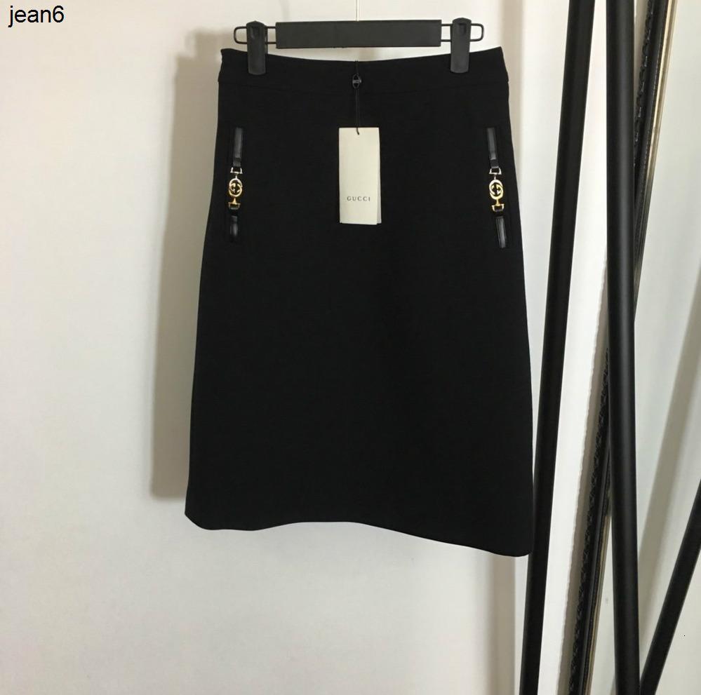 Nuovo stile delle donne alla moda piccola fibbia in pelle decorazione a vita alta a forma di mezza gonna elegante 040505