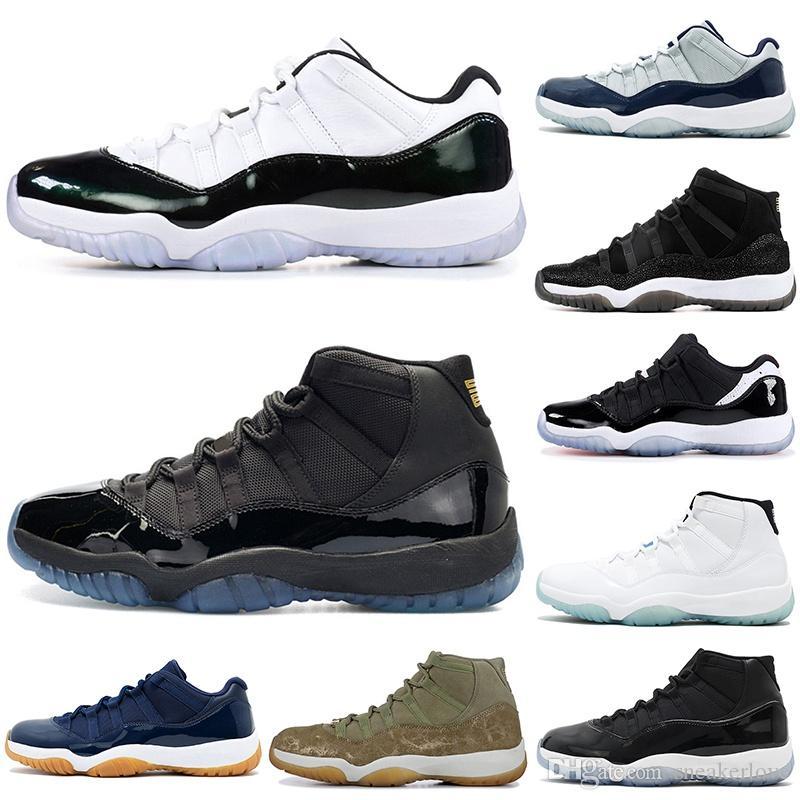 zapatos baratos de baloncesto 11 11s de piel de serpiente rosa blanca ganar así 82 96 casquillo y del vestido Space Jam para hombre de las zapatillas de deporte de atletismo 7-12