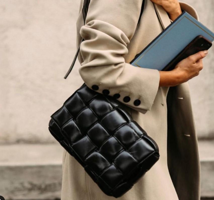 2019 nueva llegada de las mujeres de lujo desinger CASSETTE cuero real bolso crossbody del monedero del hombro del bolso de tejer