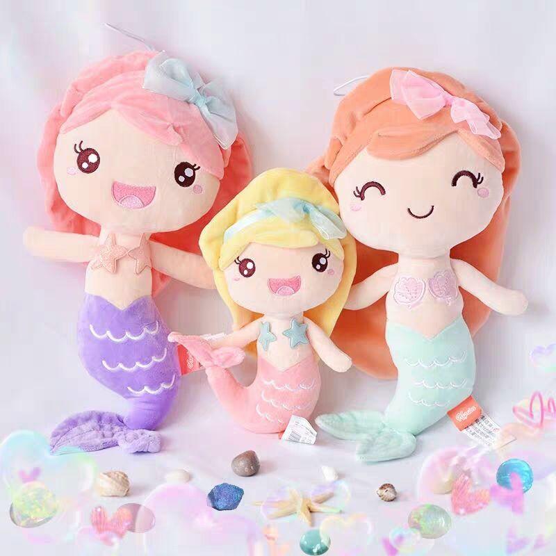 Kalite Dolması Doll Prenses Stili Mermaid Peluş Bebekler iyi Hediye Oyuncak Çocuk Çocuk Kız Ev Dekorasyonu doğum günü hediyesi