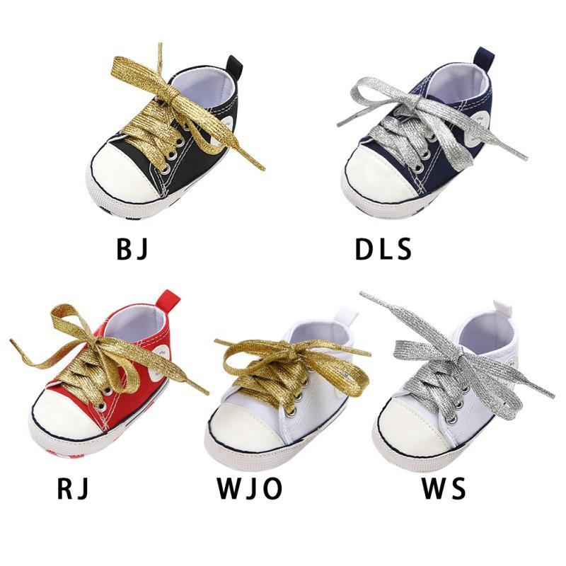 Zapatos de lona del bebé recién nacido otoño lona de la manera del bebé de los zapatos de chicas primeros caminante de algodón suave Deportes para Niños