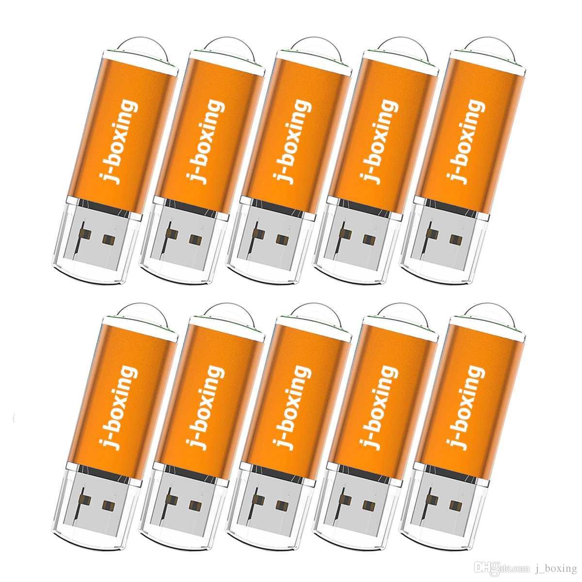 Arancione Bulk 200PCS 8GB del USB 2.0 Flash Drive rettangolo Thumb Pen Drive Flash Memory Stick di stoccaggio per computer portatile Macbook Tablet U Disk