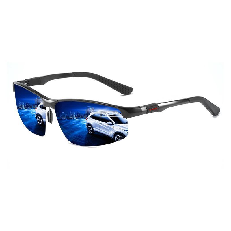 Gafas de sol de moda de aluminio de los hombres de magnesio cuadrado polarizado gafas de sol camaleón fotocromático conductor de conducción gafas polares Y19052001