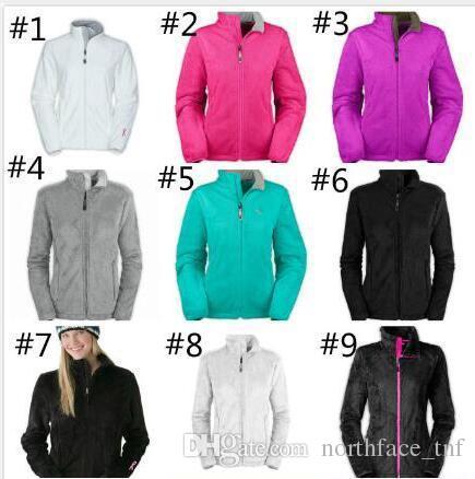 Yüz Moda Marka Kadınlar Yumuşak Polar Osito Ceketler Yüksek Kalite Bayan Erkek Çocuk Yumuşak Kabuklu Kayak Aşağı Palto Windproof Casual Coats Siyah Hamsin