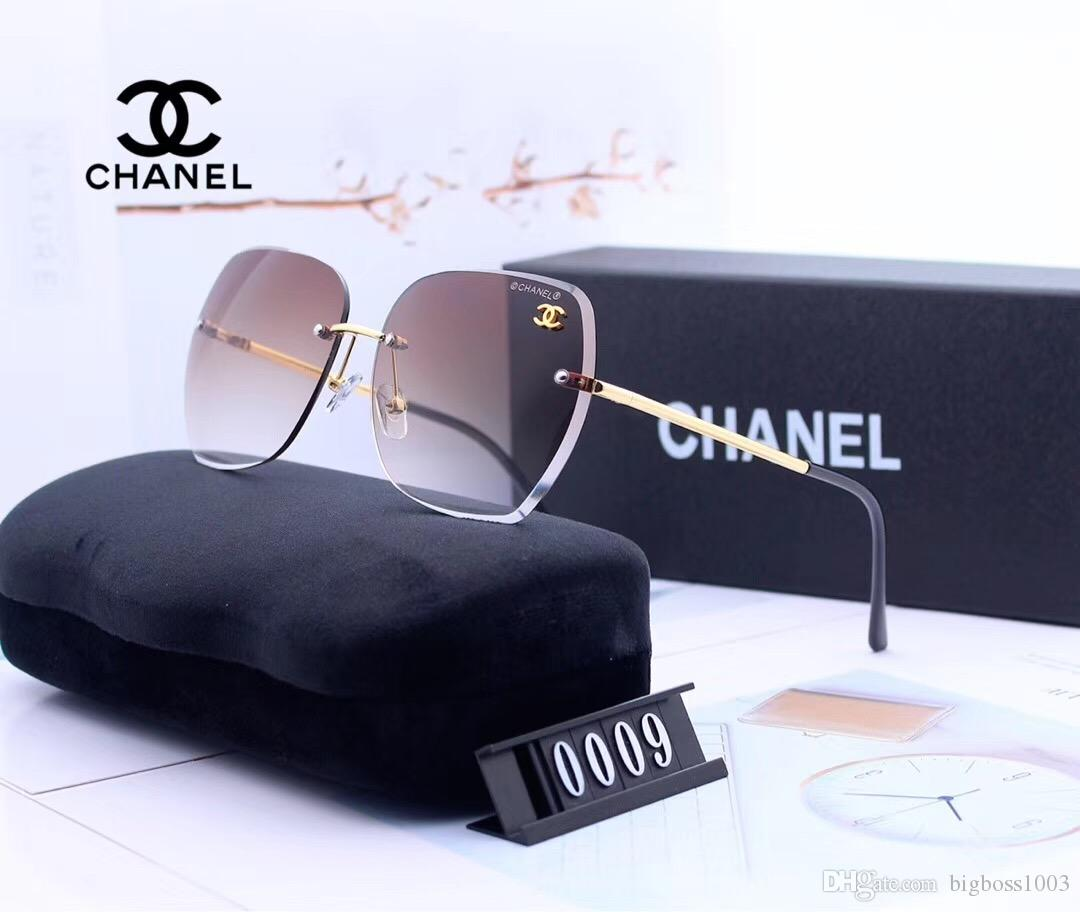 케이스 및 상자 0009 고품질의 새로운 패션 빈티지 선글라스 여성 브랜드 디자이너 여자 선글라스 여성 태양 안경