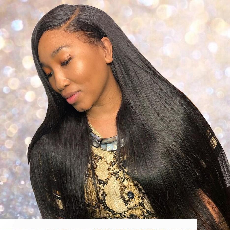 مستقيم الشعر الباروكات الجبهة الرباط الهندي الإنسان الشعر شعر مستعار 130٪ الكثافة كامل الرباط الباروكات لون طبيعي 6-26 بوصة