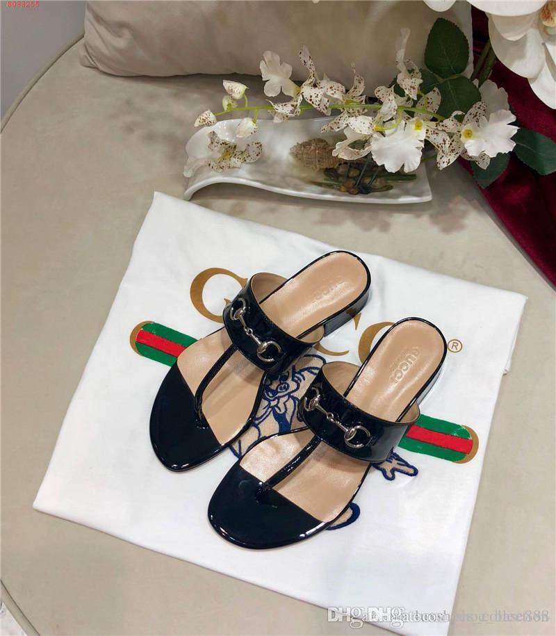 New spring and summer slippers, patent leather lady slippers, leisure flat flip flops, size 35-40