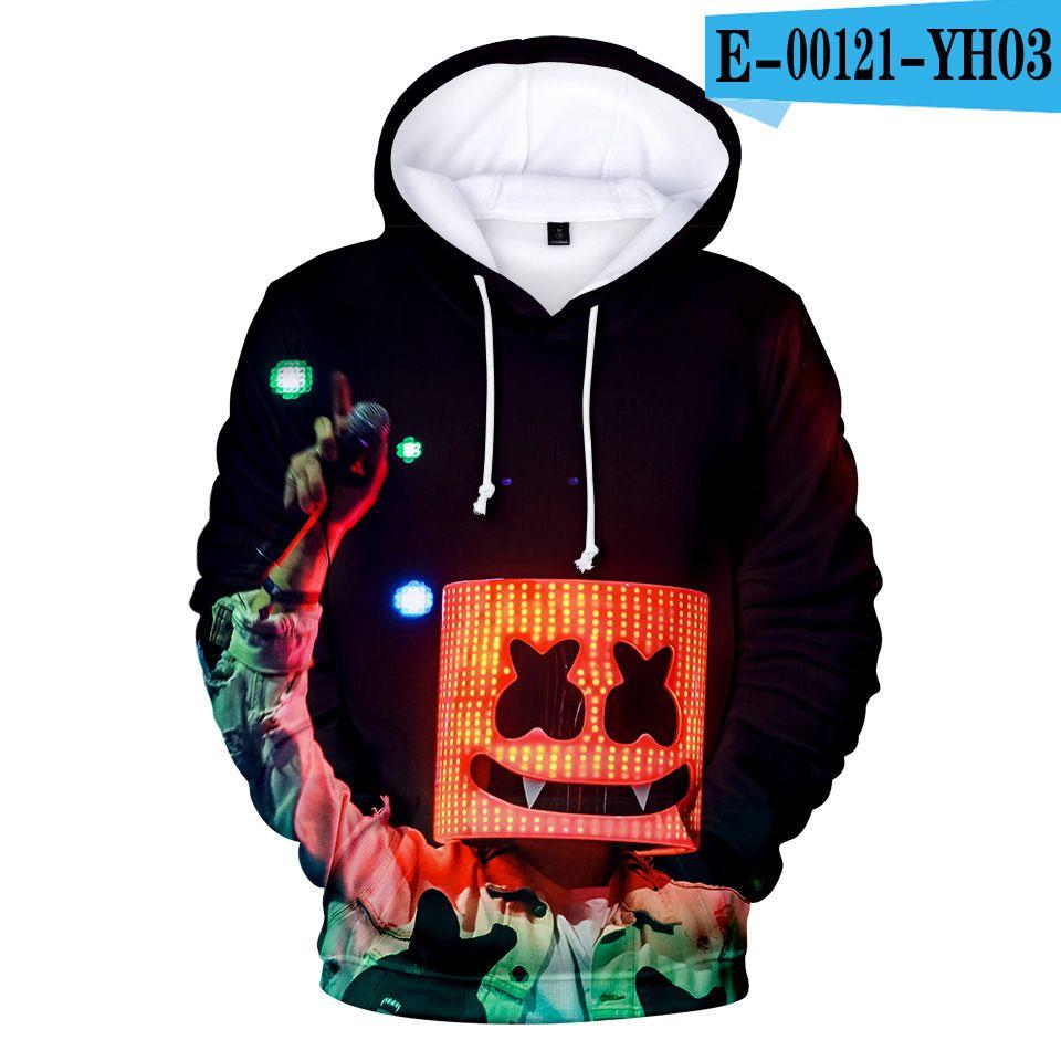 Boy Marshmello Neon DJ 3D Printed Hoodies Sweatshirt Colorful Pullover UK STOCK