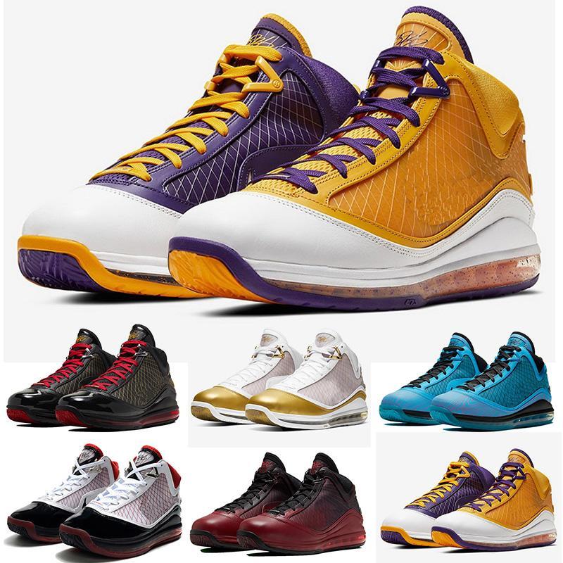 LeBron 7 Fairfax Varsity Kırmızı erkek Erkek tasarımcının spor ayakkabılar spor eğitmenleri 40-46 ışık yılı basketbol ayakkabıları 7'ler taze yetiştirilen kral equalit womens