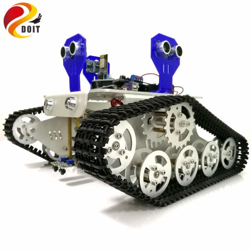 Controllo WiFi a 2 vie monitoraggio a 3 vie ad ultrasuoni Obstacle Avoidance kit Cralwer Robot Carro cisterna telaio per il kit di Arduino