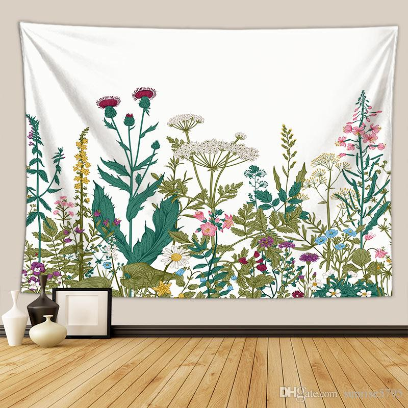 nature flower tapestry floral plant wall hanging decoration farmhouse dorm room decor large tenture mural