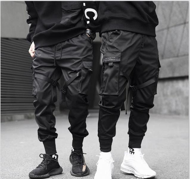 Hommes Pantalons fonctionnels et d'outillage tactique Pantalons simple Jogger Printemps Eté Pantalons Mode Adolescent Crayon Pantalons Homme Vêtements