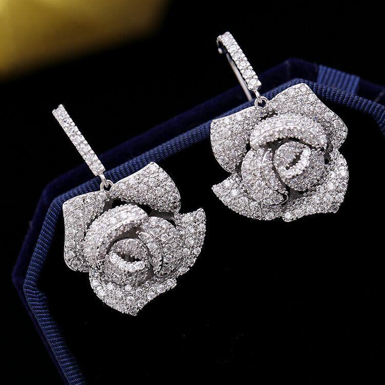 Mode-2020 femmes de luxe de luxe bijoux femmes boucles d'oreilles brillants strass design boucles d'oreilles paire de concepteurs boucles d'oreilles libres navire