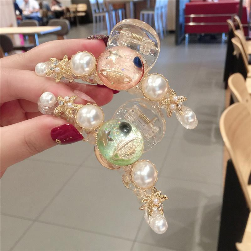 High Quality Workmanship Hair Clips for Women Bohemian Style Delicate Pearls Hair Clips Fashion Stars Barrettes for Girls
