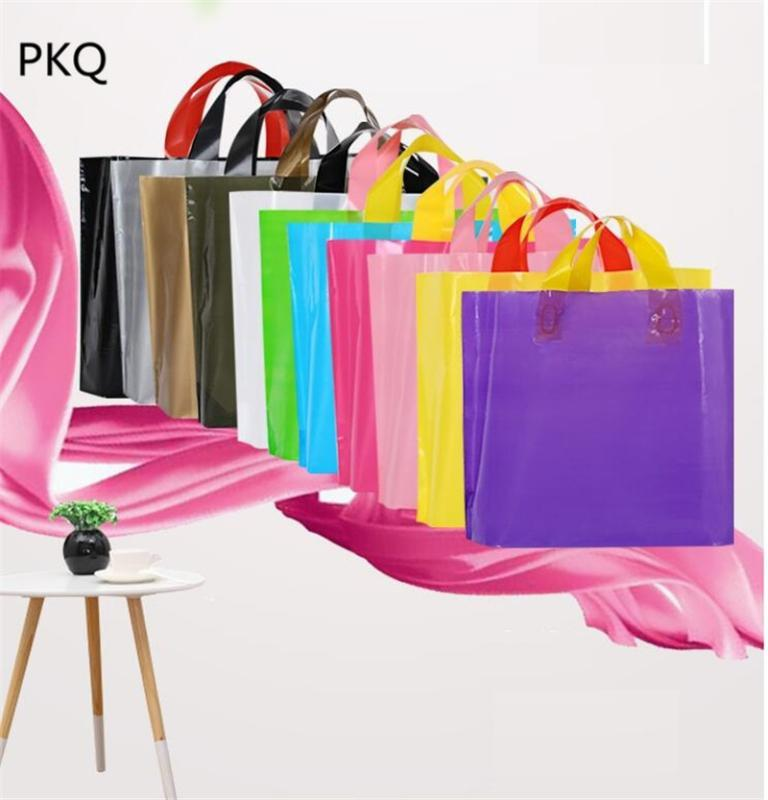 30 * 20cm Personalizado pequenos rosa dom sacos de plástico para cosméticos lingerie compras plástico roxo saco azul Dom embalagens Bag