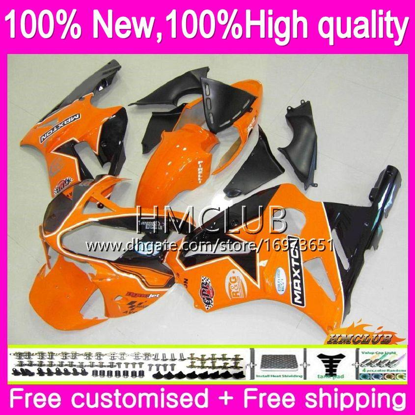 Iniezione per Kawasaki ZX 12 R 1200 C CC ZX1200 ZX12R 00 01 Corpo 70HM.38 arancio nero ZX 12R 1200cc ZX12R 00 01 2000 2001 OEM carenature Kit