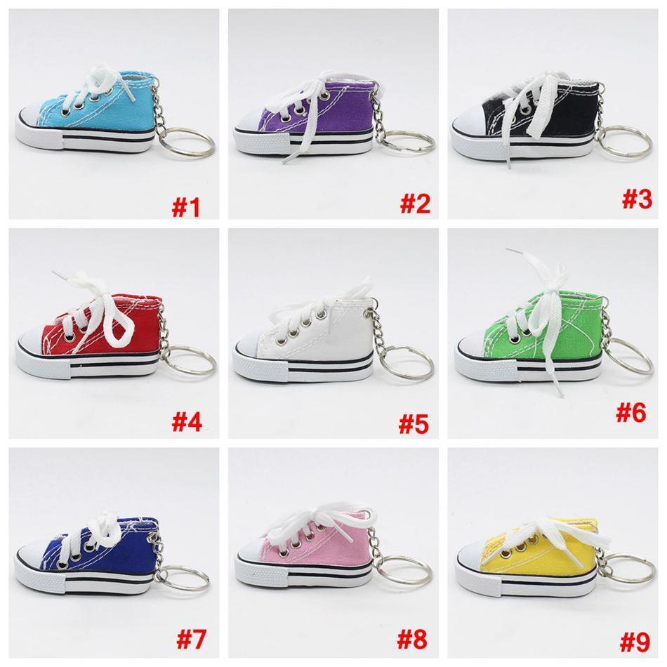 Creativo della catena chiave anello mini scarpe di tela della scarpa da tennis Tennis portachiavi Simulazione Sport Shoes divertente portachiavi ciondolo regalo LJJA3482