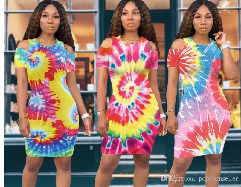 Ultime Moda girocollo donne del vestito del progettista dei vestiti tinto legame progettista delle donne sexy dei vestiti del manicotto di raglan colorato
