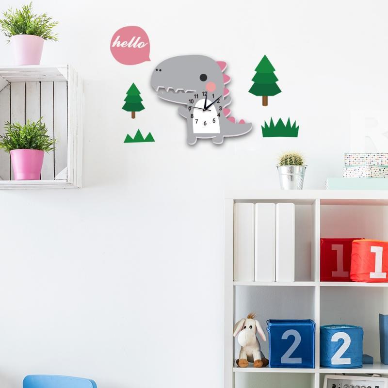 Éponte Design moderne Cartoon Grande Horloge murale nouveauté bricolage classe Décoration Horloges Enfants