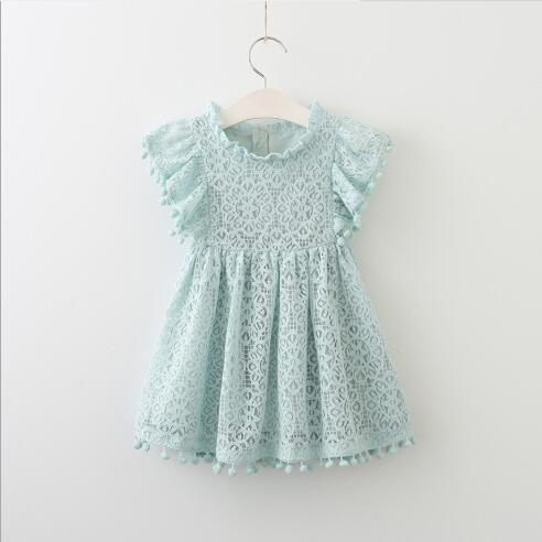 2020 novo best-seller primavera roupas e vestido do outono fora oco rendas pequena bola infantil voando pequena princesa das crianças das meninas da luva