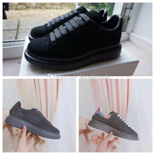 블랙 플랫폼 상자 벨벳 스타일 CHAUSSURES 신발 좋은 품질 스니커즈 아름다운 캐주얼 신발 신발