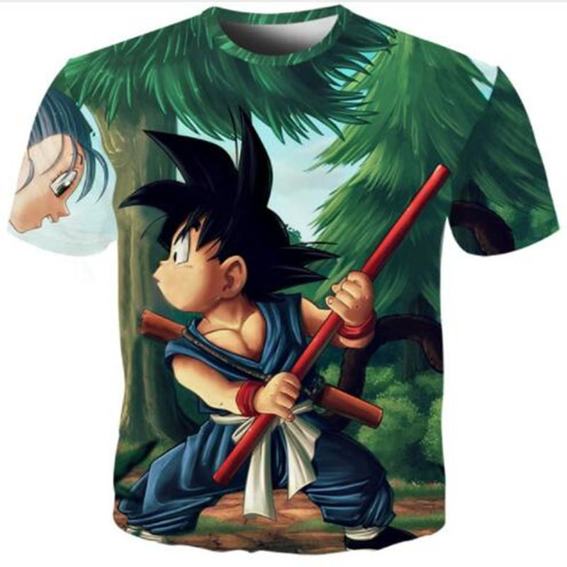 I più nuovi uomini / donne Moda Anime Dragon Ball Z Goku stampa 3D Harajuku Style T Shirt Top Plus Size Style Outfit divertente Estate T-Shirt U1217