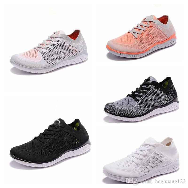 Compre Nike Free Rn Flyknit Free RN 5.0 Zapatillas Para Hombre Para Hombre  2019 Nuevo Punto Transpirable Ligeros Entrenadores Para Mujer De Moda Para  ...