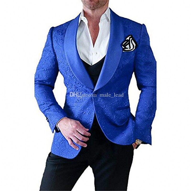 Смокинги для жениха с тиснением (куртка + галстук + жилет + брюки) Мужские костюмы Формальный костюм на заказ для мужчин Свадебные смокинги Bestmen Cheap 07