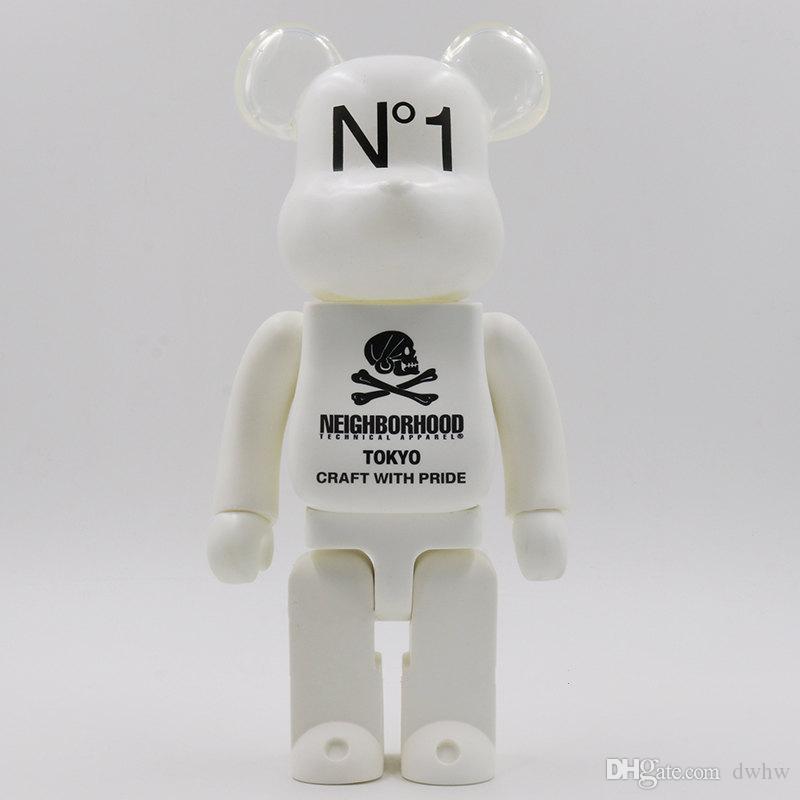 New 400% Shantou Bearbrick violent bear hand model toy desktop decoration birthday christmas gift HD24