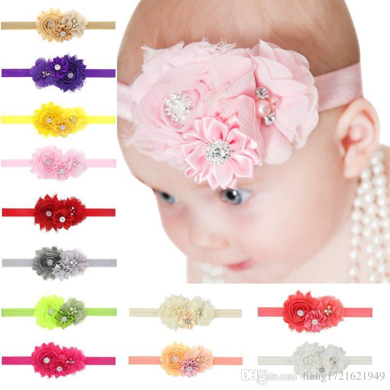 Sonnenblumen Strass Perle elastisches Haarband Baby Baby Kopf