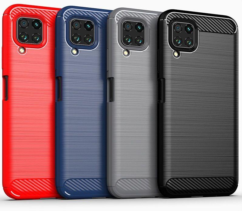 Fibra de carbono textura delgada armadura cepillado TPU cubierta del caso para Huawei Nova 6 6 SE honor V30 V30 PRO Nova 5T Pro P inteligente 2020 350pcs / LOT