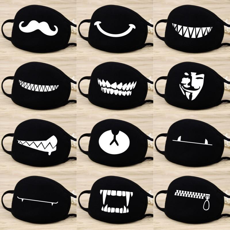 Cotton Anti Dust Mask Cartoon Expression Teeth Muffle Chanyeol Face Respirator Kpop Cute Bear Mouth Mask