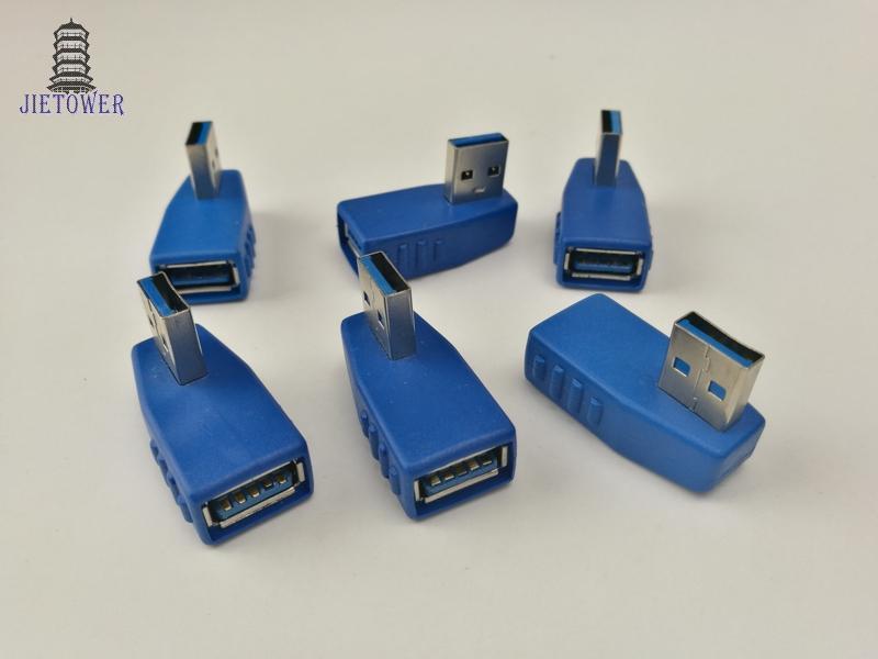 Adaptateur USB 3.0 AF TO AF Type Homme Femelle à Angle Femelle Adaptateur type croix Connecteur USB3.0 vitesse rapide
