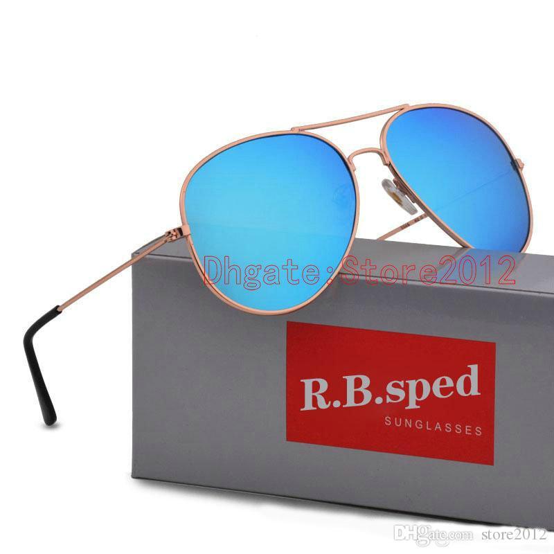 Hot oculos gafas maschio pilota polarizzato guida per gli uomini donne scatola Sol occhiali rivestimento riflettente occhiali da sole vendita occhiali da sole con crusca NELL