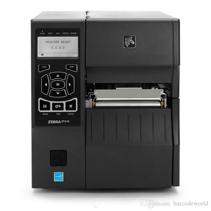 orininginal Zebra ZT410 300DPI آلة الطابعة الصناعية المتقدمة نقل الشريط العلامات Tags مخيط طابعة الباركود التسمية مع LCD ZM400