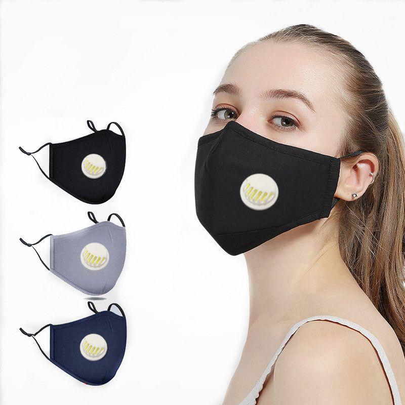 Máscara Facial Adultos PM2.5 filtro de respiro válvula cobrir a boca Máscaras Reuseable Anti Dustproof máscara protetora Substituir DHL livre
