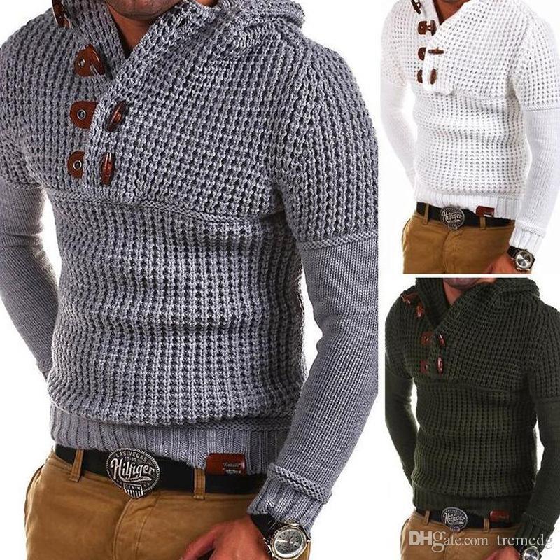 Mode Homme Sweatshirts Automne Pull en diagonale à manches longues à manches étrangères Coton occasionnel